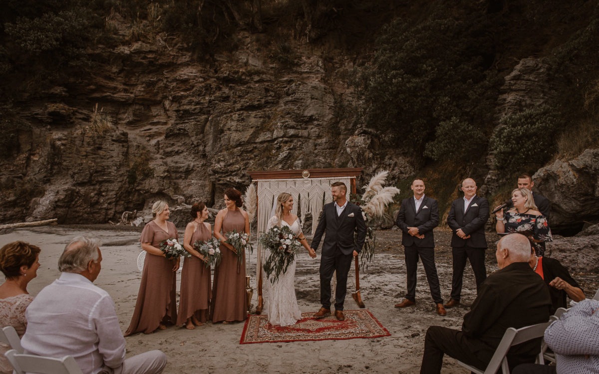 Justine + Dan Boho Beach Wedding